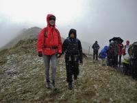 Wanderung in den Flumserbergen bei Schnee und Regen