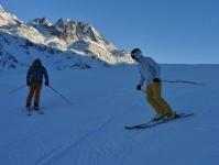 Skifahren in Splügen