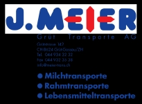 Sach-Sponsor J. Meier Grüt Transporte AG
